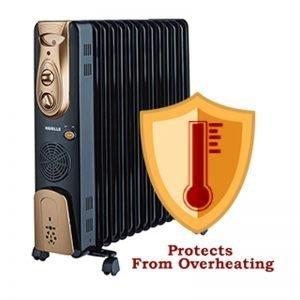 Havells OFR – 13Fin 2900-Watt PTC Fan Heater (Black)